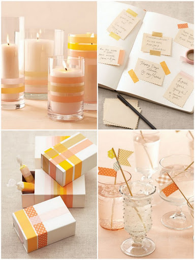 top 10 chic unique diy washi tape wedding ideas jeanilevents. Black Bedroom Furniture Sets. Home Design Ideas